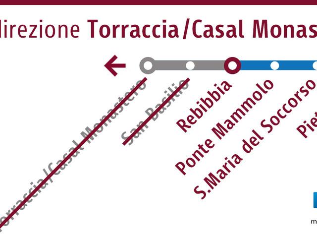 Il prolungamento Linea B Rebibbia-Casal Monastero non si farà