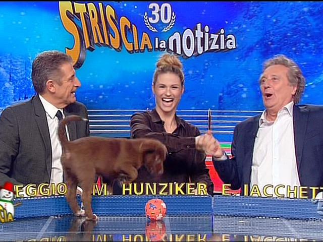 Striscia la notizia, Enzo Iacchetti sostituisce Michelle Hunziker per una puntata
