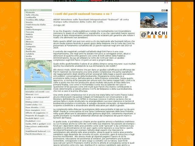 AIDAP - I conti dei parchi nazionali tornano o no ?