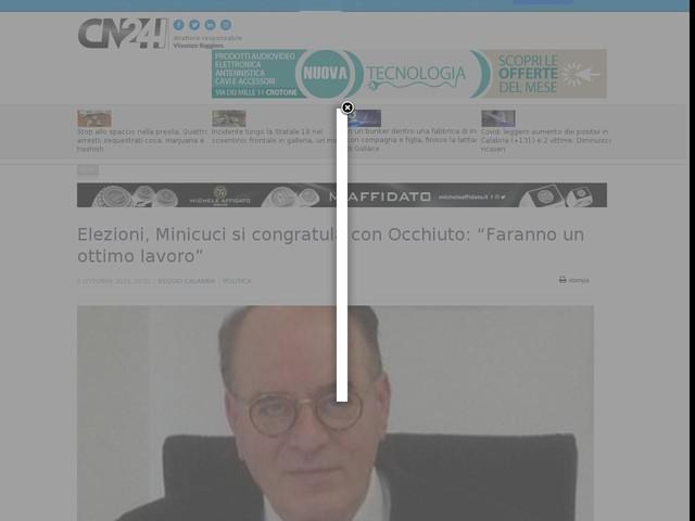 """Elezioni, Minicuci si congratula con Occhiuto: """"Faranno un ottimo lavoro"""""""