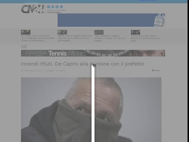 Incendi rifiuti, De Caprio alla riunione con il prefetto