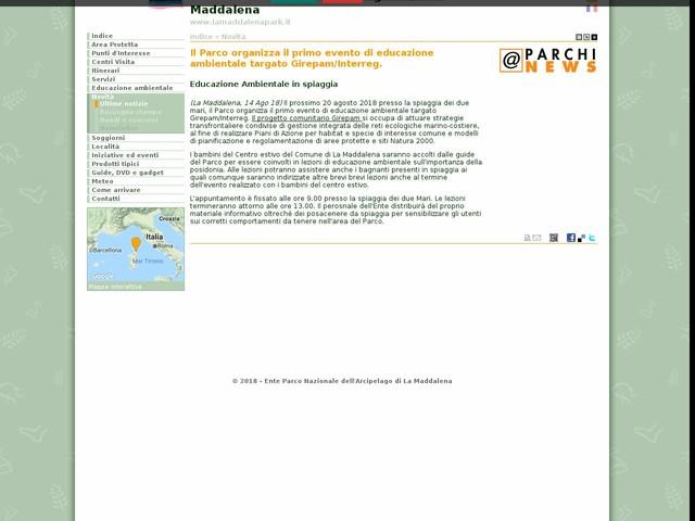 PN Arcipelago La Maddalena - Il Parco organizza il primo evento di educazione ambientale targato Girepam/Interreg.