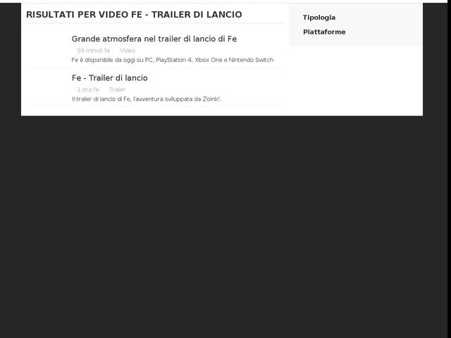 Fe - Trailer di lancio