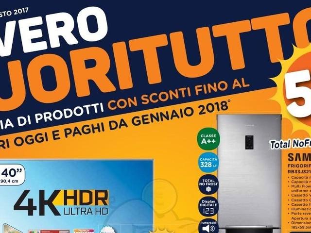 FUORITUTTO Unieuro 3-16 Agosto 2017 con sconti veri