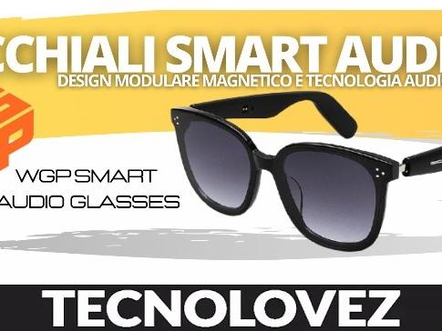 Occhiali Smart Audio WGP - Design Modulare Magnetico e Tecnologia Audio TWS