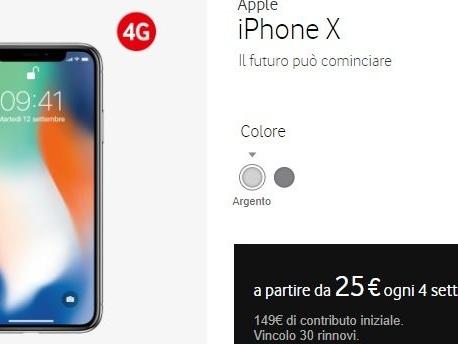Tutte le promozioni e prezzi per iPhone X con TIM, Vodafone, Wind e Tre al 4 novembre