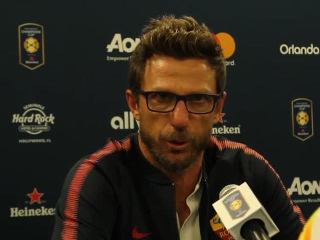 """Roma, Di Francesco: """"Primi 20 minuti col Tottenham perfetti"""""""