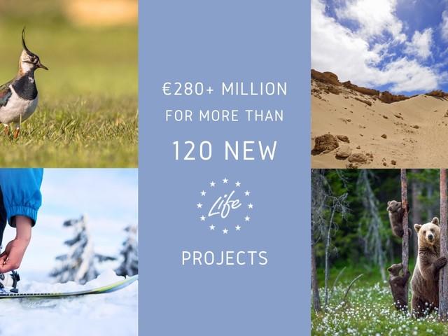 Dall'Ue oltre 280 milioni di euro per il Programma LIFE. Finanziati anche 29 progetti Italiani