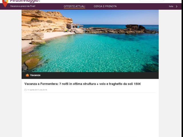 Vacanza a Formentera: 7 notti in ottima struttura + volo e traghetto da soli 150€