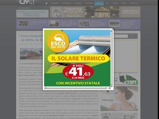 Frecciargento Reggio Calabria-Roma Termini: in arrivo la fermata a Rosarno?