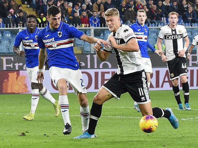 Serie A, Parma passa in casa Samp: Kucka-gol, D'Aversa aggancia Napoli