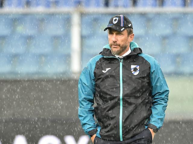 "Di Francesco: ""Gabbiadini salta l'Inter, ma Quagliarella ci sarà"""