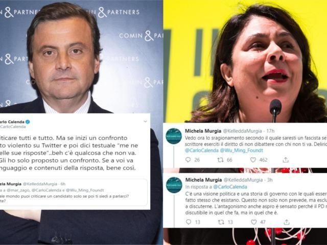 Calenda discute con Michela Murgia dopo aver accusato Wu Ming di «fascismo inconsapevole»