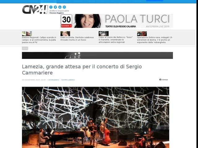 Lamezia, grande attesa per il concerto di Sergio Cammariere
