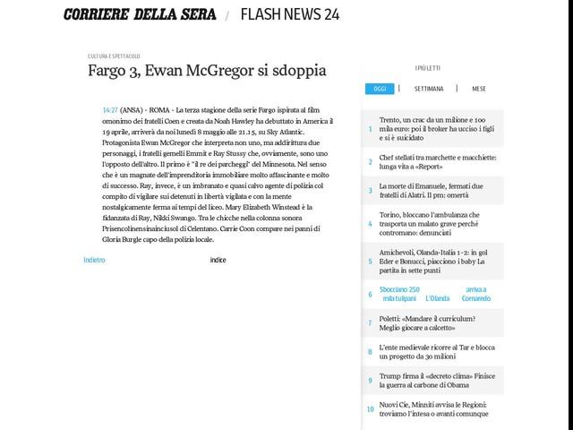 Fargo 3, Ewan McGregor si sdoppia