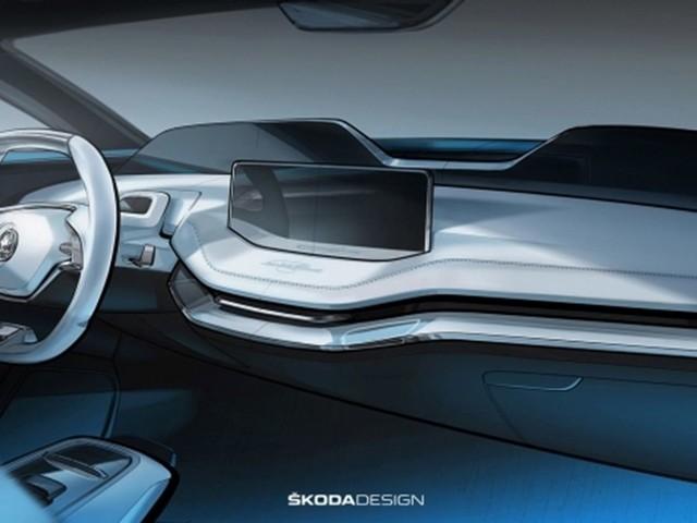 Skoda Vision E Concept: svelati gli interni del futuristico SUV