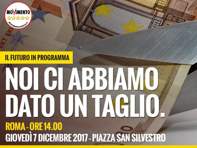 Il futuro in programma: via vitalizi e auto blu! Ci vediamo il 7 dicembre a Roma