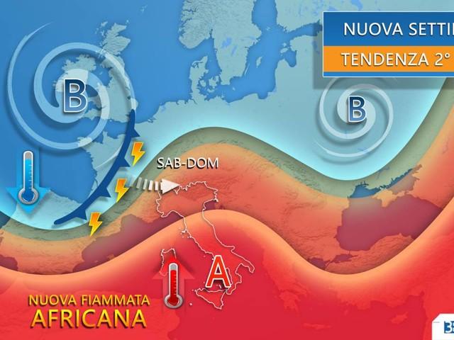 Meteo -- NUOVA FIAMMATA AFRICANA da metà settimana. SOLE e CALDO in INTENSIFICAZIONE