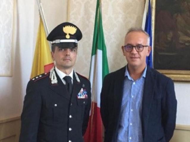 Civitanova, il sindaco Ciarapica ha incontrato il nuovo Comandante dei carabinieri Massimo Amicucci