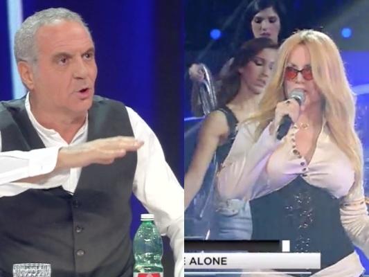 Tale e Quale Show, Giorgio Panariello e l'agghiacciante freddura sul seno di Anastacia per Tiziana Rivale