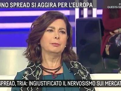 """Alessandro Morelli stronca Laura Boldrini ad Agorà sullo spread: """"Non si pagheranno di più i mutui"""""""