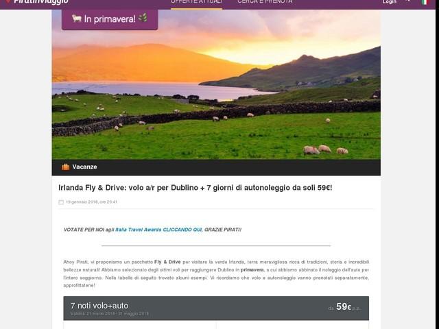 Irlanda Fly & Drive: volo a/r per Dublino + 7 giorni di autonoleggio da soli 59€!