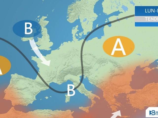 METEO ITALIA - tempo a tratti instabile anche al Centro Sud ad inizio settimana