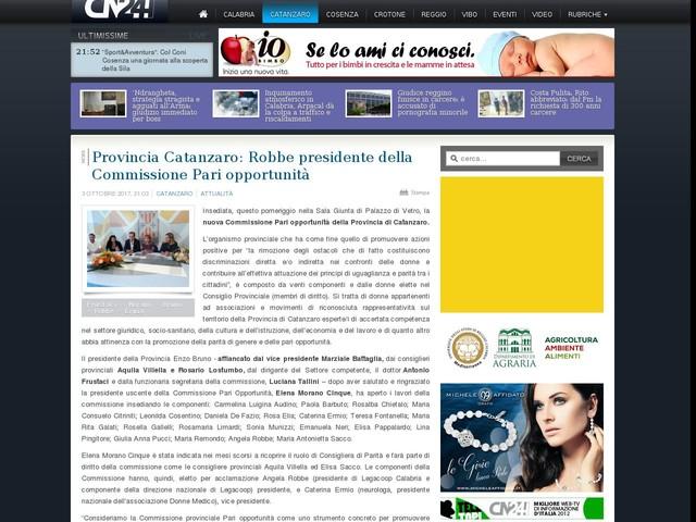 Provincia Catanzaro: Robbe presidente della Commissione Pari opportunità