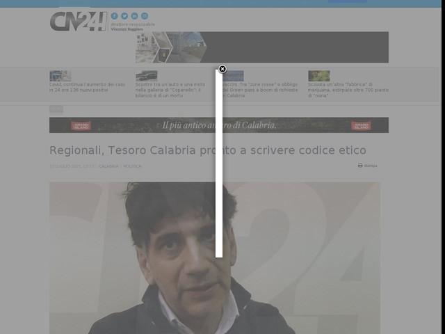 Regionali, Tesoro Calabria pronto a scrivere codice etico