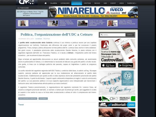 Politica, l'organizzazione dell'UDC a Cetraro