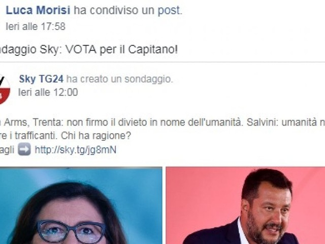 Open Arms, Salvini mobilita la Bestia contro i nemici M5S: assalto al sondaggio online contro Trenta