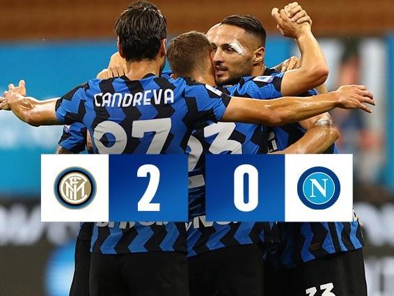 Inter, 2-0 al Napoli e sorpasso all'Atalanta. Conte è al 2° posto, decidono D'Ambrosio e Lautaro