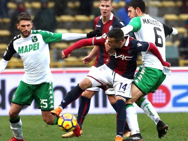 Bologna-Sassuolo 2-1: magia di Pulgar su punizione