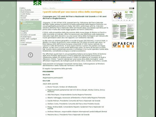 PN Val Grande - I parchi naturali per una nuova etica della montagna