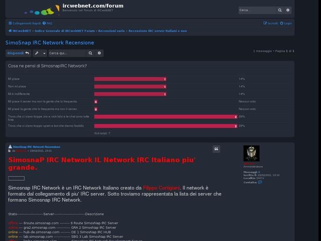 Recensione IRC server Italiani e non • SimoSnap IRC Network Recensione