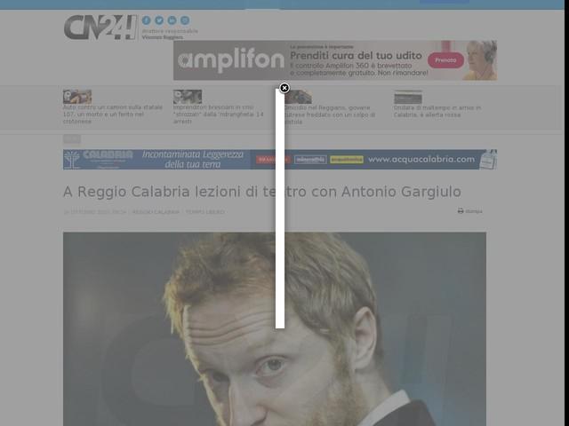 A Reggio Calabria lezioni di teatro con Antonio Gargiulo