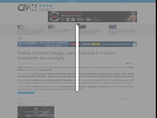 Ordine architetti Reggio, Ilario Tassone è il nuovo presidente del consiglio