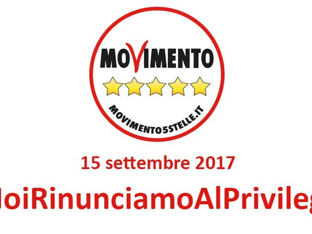 #NoiRinunciamoAlPrivilegio