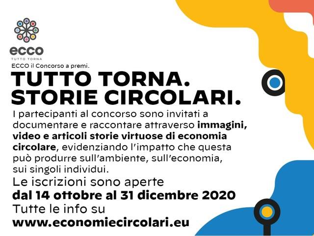 """""""Tutto torna: storie circolari"""", con ECCO un contest sull'economia circolare aperto a tutti"""