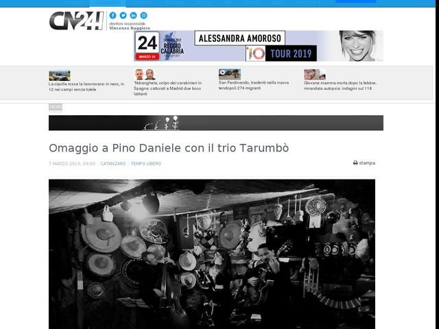 Omaggio a Pino Daniele con il trio Tarumbò