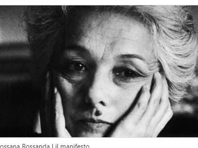 E' morta Rossana Rossanda: fu dirigente del Pci e cofondatrice del Manifesto