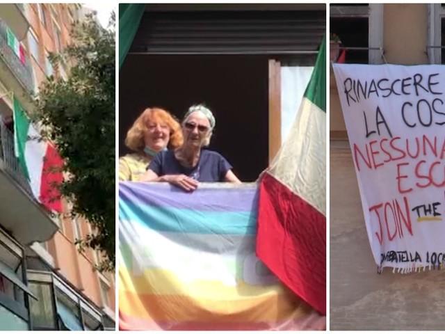 """25 aprile, da Nord a Sud """"Bella Ciao"""" risuona nelle città italiane: il flash mob tra i balconi"""