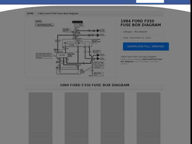 Ford F350 Fuse Box Diagram