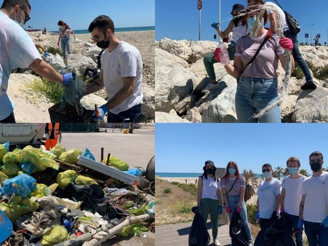 Civitanova, basta rifiuti: giovani e over 60 insieme per la pulizia dell'area portuale (FOTO)