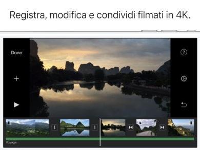 iMovie, l'app ufficiale di Apple si aggiorna alla vers 2.2.4