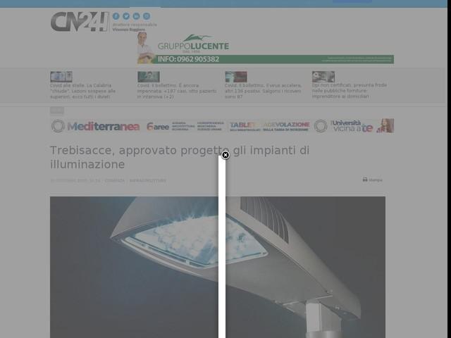 Trebisacce, approvato progetto gli impianti di illuminazione