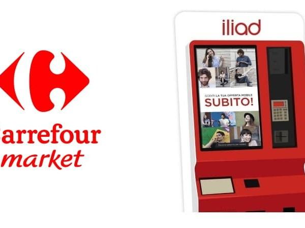 Corner iliad: nuove installazioni in 17 punti vendita Carrefour Market in tutta Italia