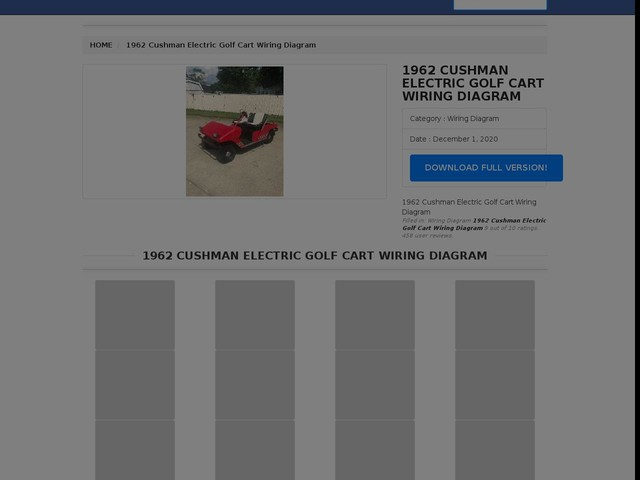 Cushman Electric Golf Cart Wiring Diagram