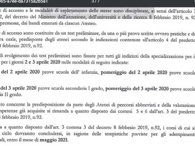 Tfa sostegno, firmato DM 95/2020 con requisiti accesso laurea e 24 CFU