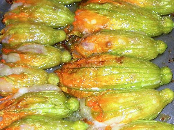 Fiori di zucca ripieni al forno, dalla tradizione romana un antipasto delizioso